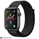 Apple Watch S4 N+ Cinza Espacial GPS em Alumínio e Pulseira Esporte em Nylon Preta, 44 mm, Wi-Fi, Bluetooth e 16GB