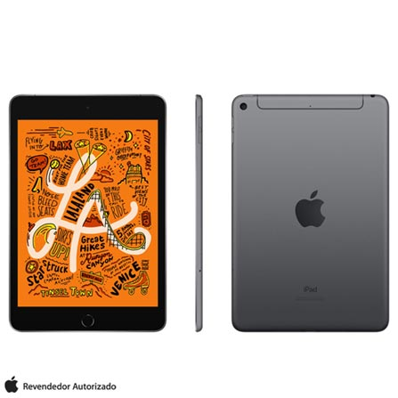 Tablet Apple Ipad Mini 5 Muxc2bz/a Cinza 256gb 4g