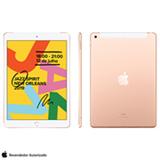 """iPad 7ª Geração Dourado com Tela de 10,2"""", 4G, 32 GB e Processador A10 - MW6D2BZ/A"""