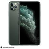 """iPhone 11 Pro Max Verde Meia-Noite, com Tela de 6,5"""", 4G, 256 GB e Câmera de 12 MP - MWHM2BZ/A"""