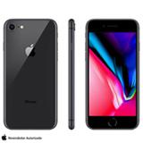"""iPhone 8 Cinza Espacial, com Tela de 4,7"""", 4G, 128 GB e Câmera de 12 MP - MX162BR/A"""