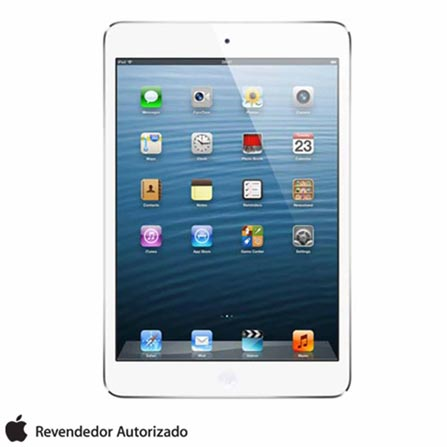 iPad Mini 32GB Apple Branco Wi-Fi MD532BZ/A + Película iPad Mini/Retina Transparente Yogo, Wi-Fi, 0