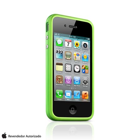Capa para iPhone 4 Bumper Verde Apple, Verde, 12 meses