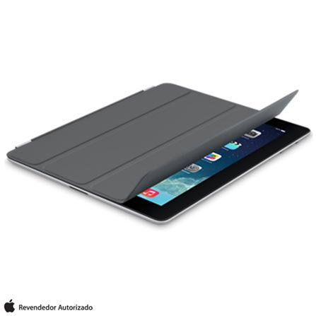Capa Smart Case de Poliuretano Cinza para iPad, Cinza