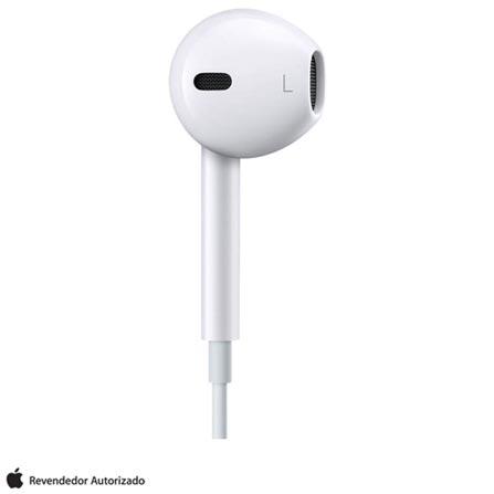 Fone de Ouvido EarPods com Controle Remoto e Microfone Branco Apple - MD827BZA, Bivolt, Bivolt, Branco