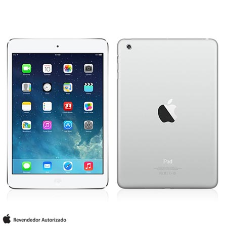iPad Mini com Tela de Retina Branco e Prata com Processador A7, Display de 7.9, Camera de 5MP, 32GB, iOS 7 e Wi-Fi, Bivolt, Bivolt, Branco e Prata, 0000007.90, 000032, 1, N, APPLE, 000312, A7, iOS, 0000008.00, 5.0 MP, 32 GB, Wi-Fi, 12 meses, Não, Sim, A7, Não, iOS, Até 10'', 7.9'', Não