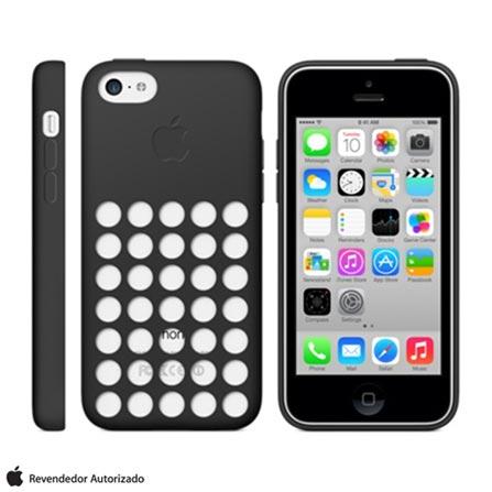 Capa para iPhone 5c Preta - Apple - MF040BZ/A, Capas e Protetores, 03 meses