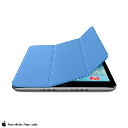 Capa para iPad Air e iPad Air 2 Smart Cover Poliuretano e Microfibra Apple MF054BZ, Azul