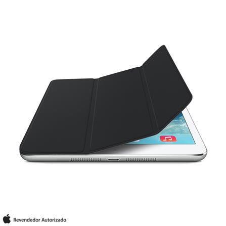 Capa para iPad Mini Smart Cover com Dobradiça Magnética de Poliuretano e Microfibra Preta - Apple - MF059BZ