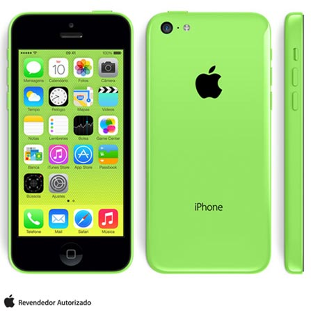 iPhone 5c Verde com 32GB, Processador A6, iOS 7, Câmera de 08 MP, Display de 4