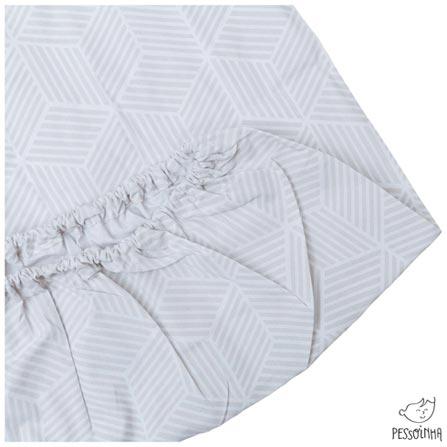 Kit de Lençóis com Elástico para Berço com 03 Peças Branco, Rosa e Gelo - Pessoinha, Colorido, 3, 03 meses