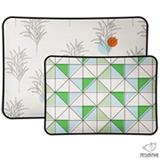 Kit Almofadas Retangulares Rabiscos Branca e Verde - Pessoinha