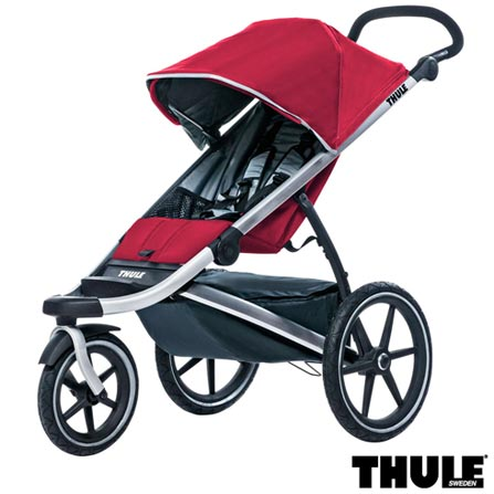 Carrinho de Bebe Urban Glide Vermelho - Thule, Vermelho, Alumínio, Aço Carbono, Nylon e Poliéster, 6 meses, 15 kg, 60 meses