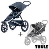 Carrinho de Bebe Urban Glide Preto - Thule - 10101902 + Capa de Chuva para Carrinho Infantil Transparente - Thule