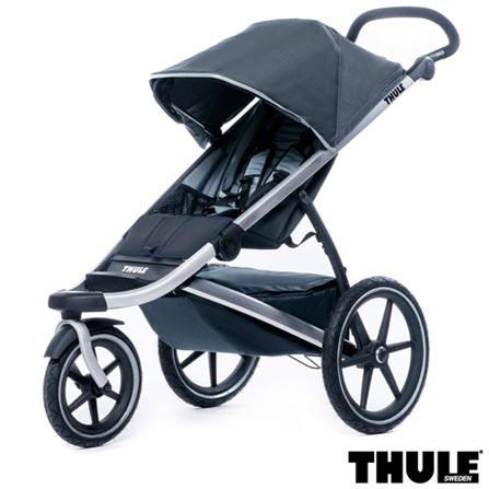 Carrinho de Bebe Urban Glide Preto - Thule - 10101902 + Capa de Chuva para Carrinho Infantil Transparente - Thule, 1
