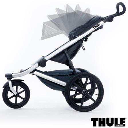 Carrinho de Bebe Urban Glide Preto - Thule - 10101902 + Capa de Chuva para Carrinho - Thule + Rede de Protecao Preta, 1