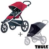 Carrinho de Bebe Urban Glide Vermelho - Thule - 10101904 + Rede de Protecao para Carrinho Preta - Thule - 20110715