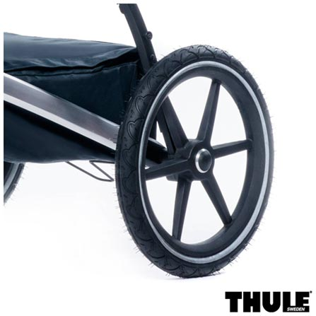Carrinho de Bebe Urban Glide Vermelho - Thule - 10101904 + Rede de Protecao para Carrinho Preta - Thule - 20110715, 0