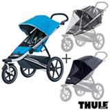 Carrinho de Bebe Urban Glide Azul - Thule - 10101905 + Capa de Chuva para Carrinho - Thule + Rede de Protecao Preta