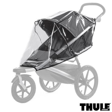 Carrinho de Bebe Urban Glide Azul - Thule - 10101905 + Capa de Chuva para Carrinho - Thule + Rede de Protecao Preta, 0