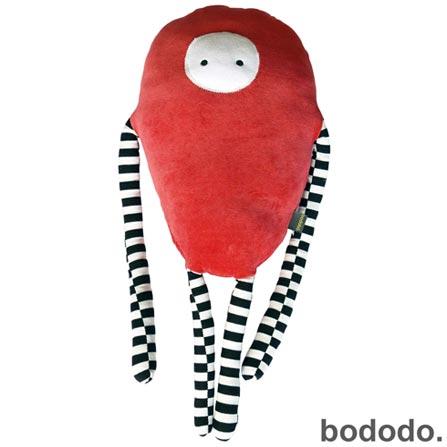 Almofada Moébio Bodobo em Plush Vermelho, Vermelho, A partir de 03 anos, 03 meses