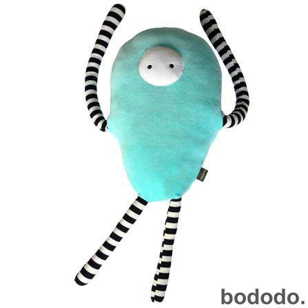 Almofada Moébio Bodobo em Plush Turquesa, Azul, A partir de 03 anos, 03 meses