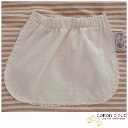 Saco de Dormir Cotton Cloud Verão Tamanho P Listrado Bege e Marrom, Bege e Marrom, Algodão, 03 meses