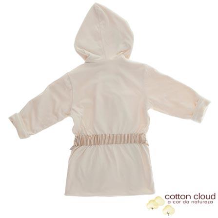 Roupão Duplo Viés Listrado Cru Tamanho 2 - Cotton Cloud, Bege, 2, Algodão e Poliéster, 03 meses
