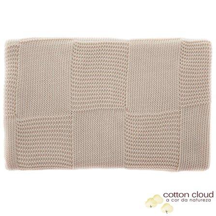 Manta Cotton Cloud Dupla Face em Tricô Bege, Bege, Colo, 01 Peça, Algodão, N/A, Sim, 03 meses