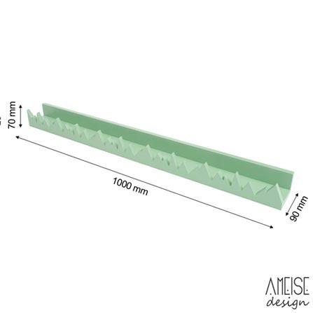Prateleira Zoo Verde - Ameise Design, Verde, MDF, 12 meses