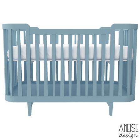 Berco Circus 2 Azul - Ameise Design, MDF, Tinta, 50 kg, Não, 12 meses