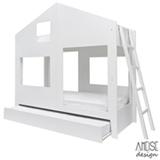 Cama Solteiro Cafofo Branco - Ameise Design