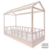 Cama Solteiro Casinha Farm Nude - Ameise Design