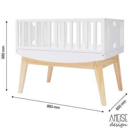 Mini Berco Bossa Rio Branco + Colchonete Infantil - Ameise Design, 1