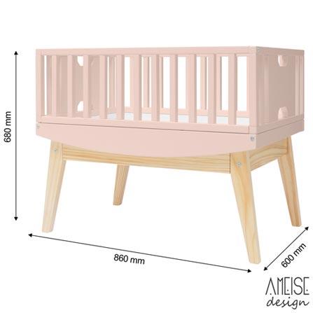 Mini Berco Bossa Rio Nude + Colchonete Infantil Cru - Ameise Design, 1