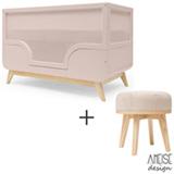 Berco Mini Cama Bossa Rio Nude - Ameise Design + Banqueta Urca Rio Bege - Ameise Design