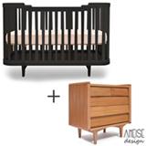 Berco Circus 2 Preto - Ameise Design - Ameise Design + Comoda Farm 90 com 05 Gavetas Jequitiba - Ameise Design