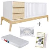 Berco Combo Rio Bco - Ameise Design + Colchao Ortobom + Travesseiro 30x40cm Daune + Capa para Travesseiro 30x40cm Daune