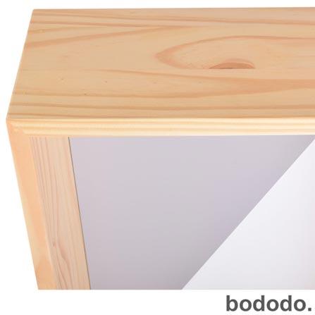 Módulo de Parede Bododo Retangular Branco, Rosa, Cinza, Colorido, Pinus e MDF, 06 meses