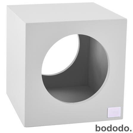 Banco Infantil Cubo Branco - Bododo, Branco, MDF, Laca, 70 kg, 06 meses