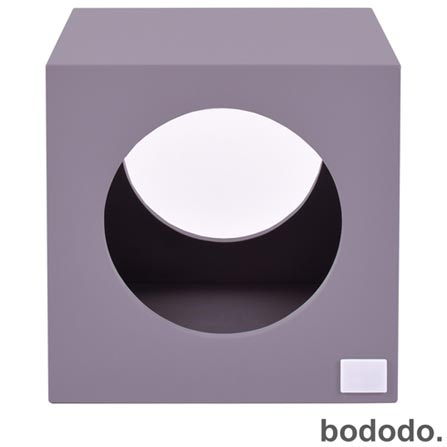 Banco Infantil Cubo Roxo - Bododo, Roxo, MDF, Laca, 70 kg, 06 meses