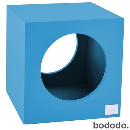 Banco Infantil Cubo Turquesa - Bododo, Turquesa, MDF, Laca, 70 kg, 06 meses