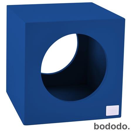 Banco Infantil Cubo Azul - Bododo, Azul, MDF, Laca, 70 kg, 06 meses