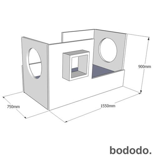 Mini Cama Matt Branca - Bododo, MDF laqueado, Laca, 80 kg, 06 meses