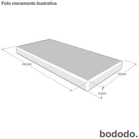 Mini Cama Matt Branca - Bododo + Colchao Solteiro Light Ortobom Branco e Cinza + Travesseiro Infantil Branco - Fibrasca, 1
