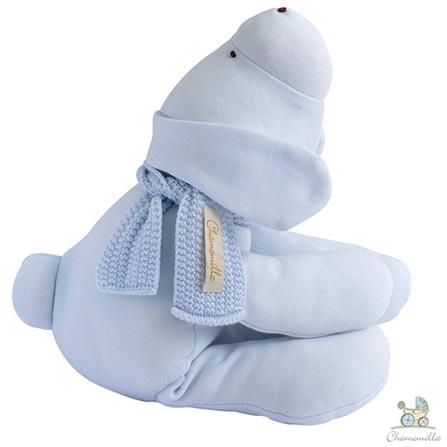 Naninha Chamomilla Cachorro em Algodão Orgânico Azul Bebê, Azul, Não se aplica, 01 Peça, Algodão, N/A, 03 meses