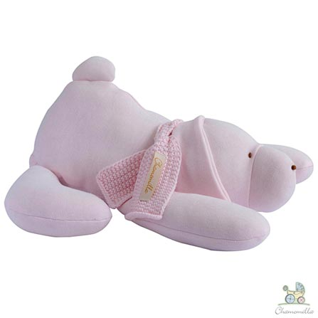Naninha Chamomilla Cachorro em Algodão Orgânico Rosa Bebê, Rosa, Não se aplica, 01 Peça, Algodão, N/A, 03 meses