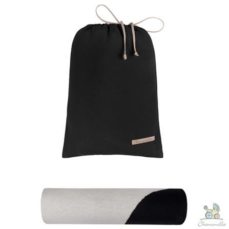 Almofada de Amamentacao +Trocador +Rolos Protetores de Berco Cinza Chamomilla +Lencois Tribeca +Manta Natural Chamomilla, 1
