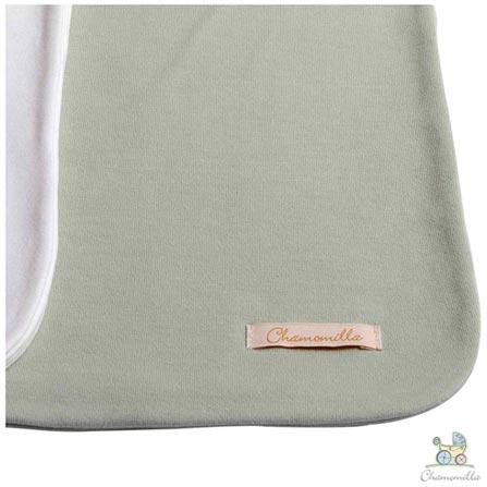 Kit com 02 Mantas Chamomilla para Berço Natural e Verde, Branco e Verde, Berço, 02 Peças, Algodão, N/A, Sim, 03 meses