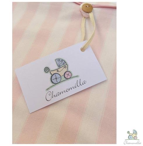Envelope para Maternidade com 06 Peças Rosa - Chamomilla, Rosa, 03 meses